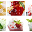 Food set of different  sweet dessert. — Stock Photo