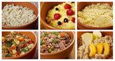 Set of different russian traditional porridges — Stock Photo