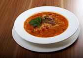 Soup Kharcho — Stock Photo