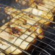 Codfish steak on grill — Stock Photo #27650805