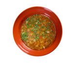 Hot fresh Minestrone soup — Stock Photo