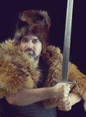 Cimmerian.barbarian Warrior — Stock Photo