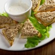 Stock Photo: Bread with delicious liver pate