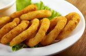 Onion Rings Breaded — Stock Photo