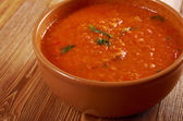 Soup or Pappa al Pomodoro — Stock Photo