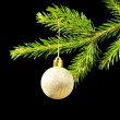 Christmas tree ornaments on dark — Stock Photo #2870311