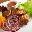 Stock Photo: Shashlik (shish kebab)