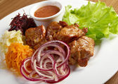 Shashlik (shish kebab) — Stock Photo