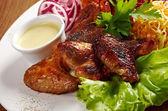 Skrzydełka z kurczaka z grilla — Zdjęcie stockowe