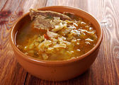 Cabbage soup with meat — Stock Photo