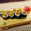 Japanese sushi . — Stock Photo