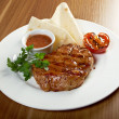 Grilled t-bone steak — Stok fotoğraf