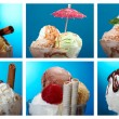 Food set ice cream . — Stock Photo #30727073