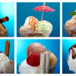 Food set ice cream . — Stock Photo