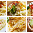 Food set of different  italian pasta. — Foto de Stock