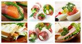 Inzake levensmiddelen vastgesteld voor verschillende sandwich — Stockfoto