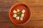 Sopa deliciosa gazpacho frío — Foto de Stock