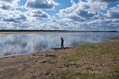 Pinega River in Arkhangelsk region — Stock Photo