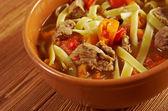 Orientaliska uzbekiska soppa lithander — Stockfoto