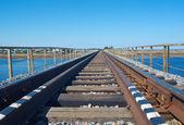 Kolejowy most drogowy — Zdjęcie stockowe