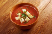 Delicious cold Gazpacho soup — Stock Photo