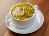 Chicken and wild rice soup — Stock Photo