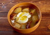 Sopa de ajo — Stock Photo