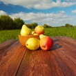 Fruit on a wooden table — ストック写真