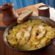 Stock Photo: Codfish with potatoes