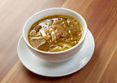 Home made mushroom soup — Stock Photo