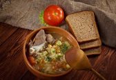 Russiancabbage soup - stchi — Stock Photo