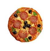 自制披萨意大利香肠. — 图库照片