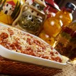 Lasagna with beef . — Stock Photo