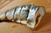 Smoked mackerel cut with slices — Stock Photo