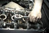 Reparatur des Motors — Stockfoto