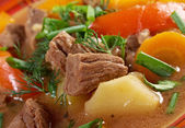 Irish stew with tender lamb meat — Stock Photo