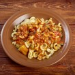 Homemade elbow macaroni pasta — Stock Photo