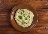 Homemade Baba Ghanoush — Stock Photo
