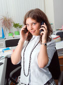 .business woman on the phone — Stock Photo