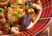 Acqua Pazza with perch — Foto Stock