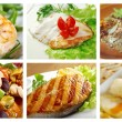 Food set of different seafoods — Stock Photo #36749655