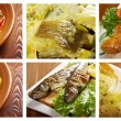 Stock Photo: Food set of different seafoods