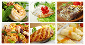 Food set of different seafoods — Stock Photo