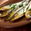 Smoked herring — Stock Photo