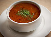 Hearty spicy Mexican soup — Stock Photo