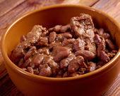 Bowl of boston baked beans — Stock Photo
