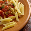 Stock Photo: Penne rigatwith marinarsauce