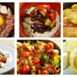 Stock Photo: Food set of different chinese cuisine .