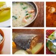 Stock Photo: Seafoods soups
