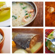 Seafoods soups — Stock Photo